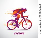 cycling race stylized... | Shutterstock .eps vector #725886961