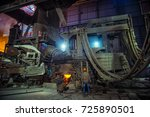 steel making workshop  | Shutterstock . vector #725890501