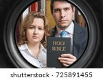 jehovah witnesses are showing... | Shutterstock . vector #725891455