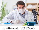 male doctor working in the lab...   Shutterstock . vector #725892595