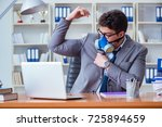 businessman sweating... | Shutterstock . vector #725894659