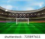 soccer stadium vector banner.... | Shutterstock .eps vector #725897611