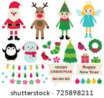 christmas vector cartoon design ... | Shutterstock .eps vector #725898211