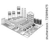 sketch building of isometric... | Shutterstock .eps vector #725898475
