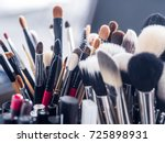 makeup brush | Shutterstock . vector #725898931
