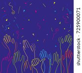 hands clapping raised up... | Shutterstock .eps vector #725900071
