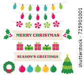 christmas vector design... | Shutterstock .eps vector #725901001