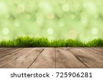 full frame of wooden planks and ... | Shutterstock . vector #725906281