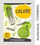 celery brochure concept design. ... | Shutterstock .eps vector #725908201