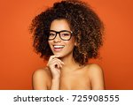 beautiful black woman wear... | Shutterstock . vector #725908555