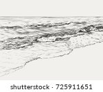 vector summer seascape sketch.... | Shutterstock .eps vector #725911651