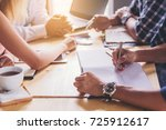 business people meeting and... | Shutterstock . vector #725912617