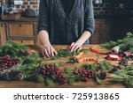cropped view of decorator...   Shutterstock . vector #725913865