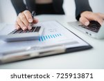accounting calculating... | Shutterstock . vector #725913871