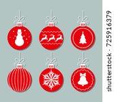 set of christmas new year balls ...