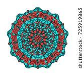 flower mandalas. vintage... | Shutterstock .eps vector #725919865