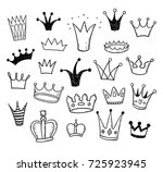 hand drawn doodle princess... | Shutterstock .eps vector #725923945