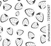 strawberry vector seamless... | Shutterstock .eps vector #725924287