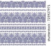 paisley illustration pattern | Shutterstock .eps vector #725927971