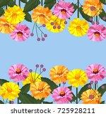 floral card banner background...   Shutterstock .eps vector #725928211