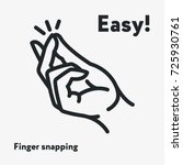 easy concept. finger snapping   ... | Shutterstock .eps vector #725930761