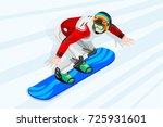 snowboard jump race snowboarder ... | Shutterstock .eps vector #725931601