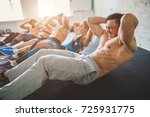 fitness  sport  friendship and... | Shutterstock . vector #725931775