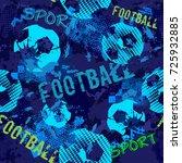 abstract sport football pattern ... | Shutterstock .eps vector #725932885