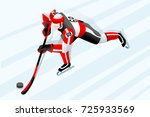hockey poster. ice hockey... | Shutterstock .eps vector #725933569