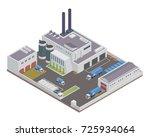 modern isometric industrial... | Shutterstock .eps vector #725934064
