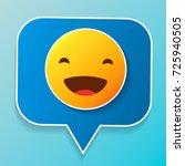 vector logo. smile face sign... | Shutterstock .eps vector #725940505