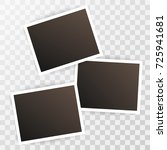 three photorealistic blank... | Shutterstock .eps vector #725941681