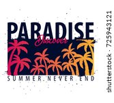paradise discover graphic with... | Shutterstock .eps vector #725943121