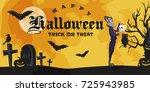 halloween backgrounds with... | Shutterstock .eps vector #725943985