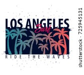 los angeles surfing graphic... | Shutterstock .eps vector #725945131