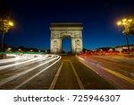 paris arc de triomphe triumphal ... | Shutterstock . vector #725946307