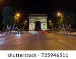 paris arc de triomphe triumphal ... | Shutterstock . vector #725946511