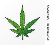 marijuana icon  cannabis symbol ... | Shutterstock .eps vector #725950909