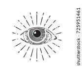all seeing eye  circle  vector...   Shutterstock .eps vector #725951461