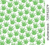 background pattern with aloe... | Shutterstock .eps vector #725952379