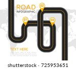 road or highway infographic... | Shutterstock .eps vector #725953651
