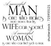 phrase successful man   Shutterstock . vector #725955121