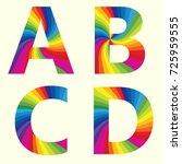 Stylish Rainbow Alphabet....