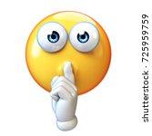 emoji making silence hand... | Shutterstock . vector #725959759