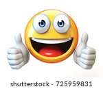 thumbs up emoji isolated on... | Shutterstock . vector #725959831