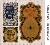 vector vintage items  label art ... | Shutterstock .eps vector #725959897