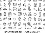 hand drawn seamless pattern... | Shutterstock .eps vector #725960194