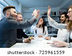 group of architects working... | Shutterstock . vector #725961559