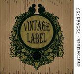 vector vintage items  label art ... | Shutterstock .eps vector #725961757
