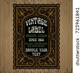 vector vintage items  label art ... | Shutterstock .eps vector #725961841